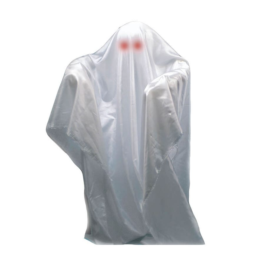 J. Marcus Animatronic Pre-Lit Musical Freestanding Ghost Figurine with Red Lights