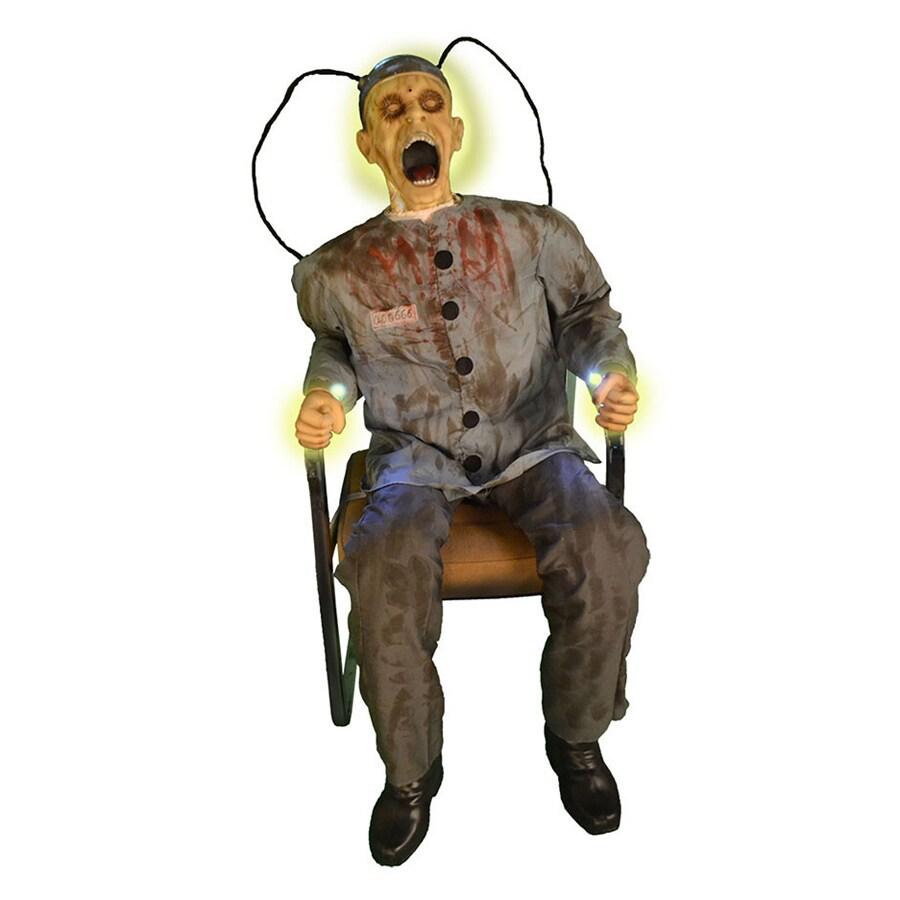 J. Marcus Animatronic Pre-Lit Prisoner Figure with Yellow Lights