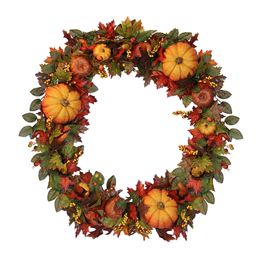 Northlight Fall Traditions 36-in Unlit Indoor Gourd Artificial Thanksgiving Wreath