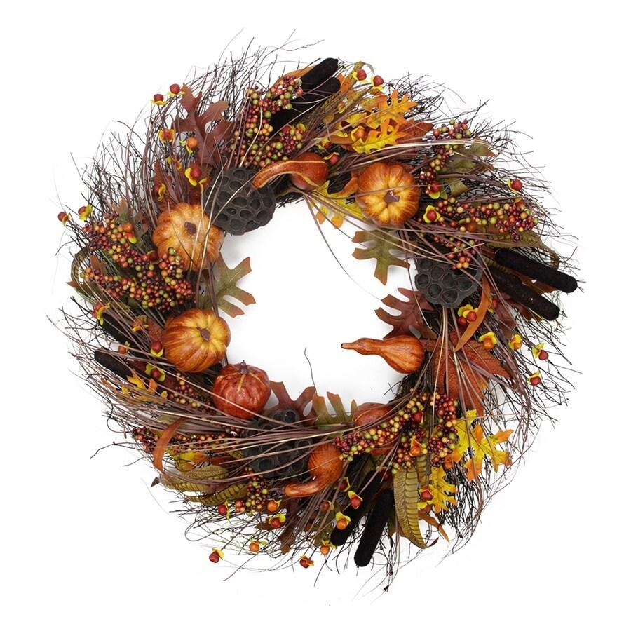 Northlight 28-in Unlit Indoor Gourd Artificial Thanksgiving Wreath