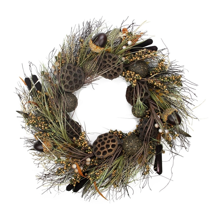 Northlight 30-in Unlit Indoor Leaf Artificial Thanksgiving Wreath