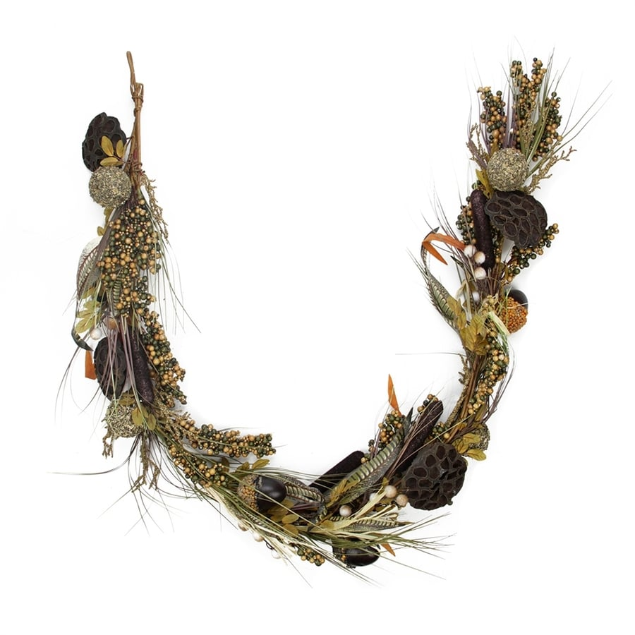 Northlight 5-ft Dried Lotus Root and Cattail Woodland Harvest Thanksgiving Garland