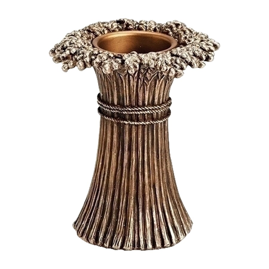 Northlight 1 Candle Bronze Wheat Resin Votive Thanksgiving Candle Holder