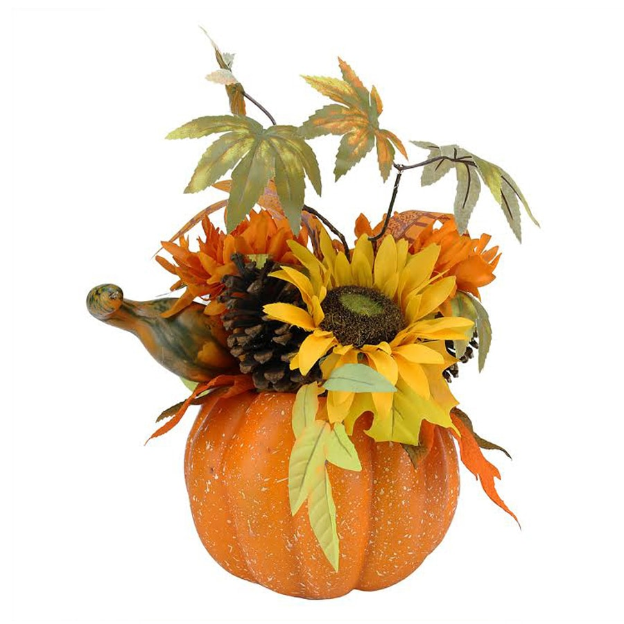 Northlight Plastic Pumpkin Figurine Indoor Thanksgiving Decoration
