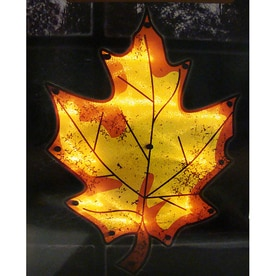 Shop outdoor thanksgiving decorations at lowes northlight leaf window cling with twinkling clear incandescent lights aloadofball Images