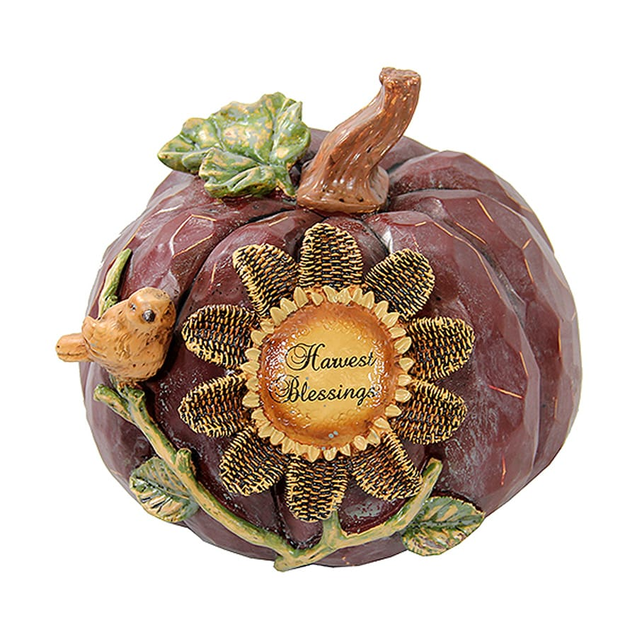 Northlight Polyresin Pumpkin Figurine Indoor Thanksgiving Decoration