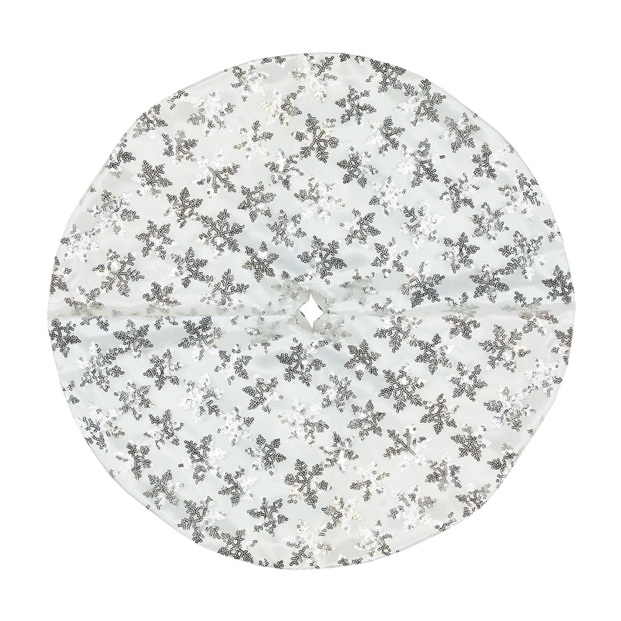 Lowes Christmas Tree Skirts: Shop Northlight 20-in White Polyester Snowflake Christmas