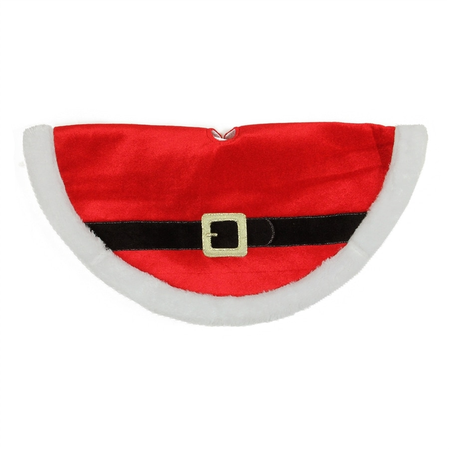 Northlight 20-in Red Polyester Santa Christmas Tree Skirt