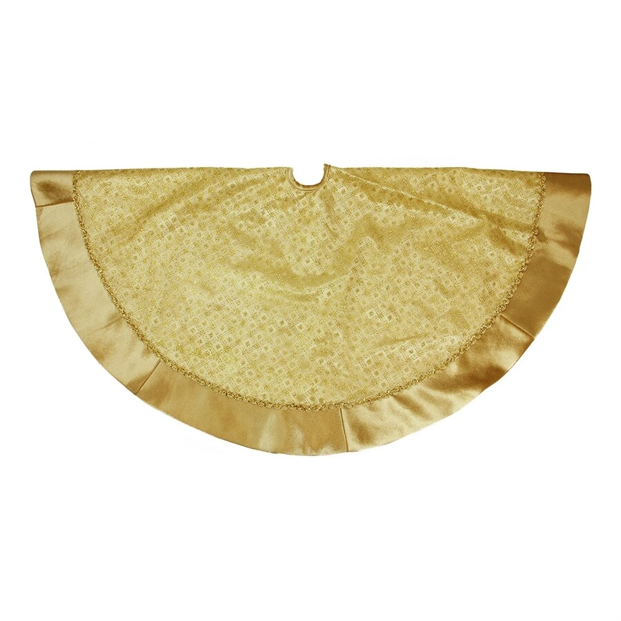 Northlight 48-in Gold Polyester Glitter Christmas Tree Skirt