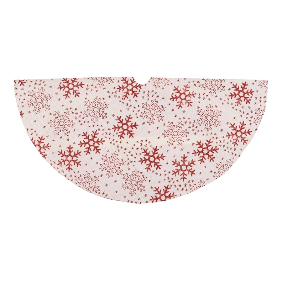 Northlight 20-in White Polyester Snowflake Christmas Tree Skirt