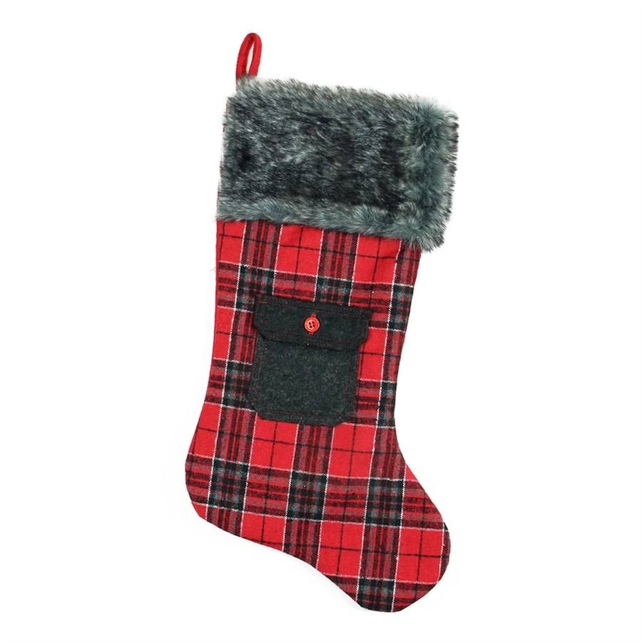 Northlight Alpine Chic 20.5-in Red Plaid Christmas Stocking