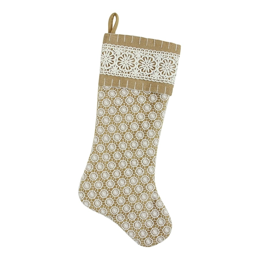 Northlight 20.5-in Gold Geometric Christmas Stocking