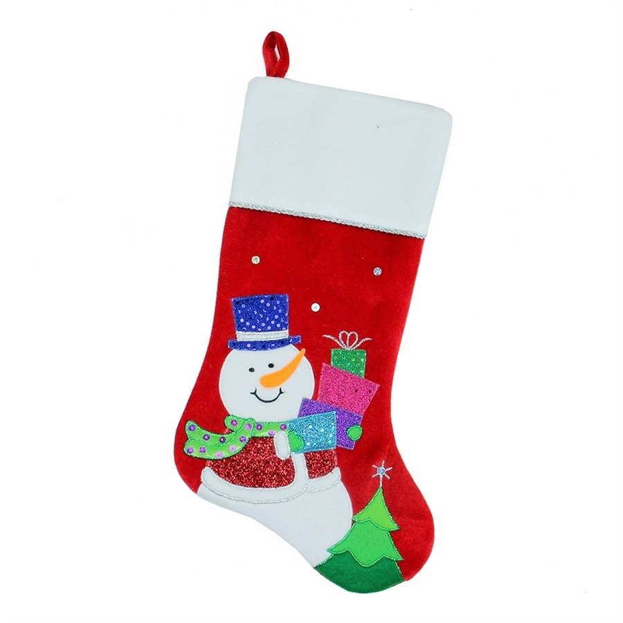 Shop Northlight 20.5-in Red Snowman Christmas Stocking at Lowes.com