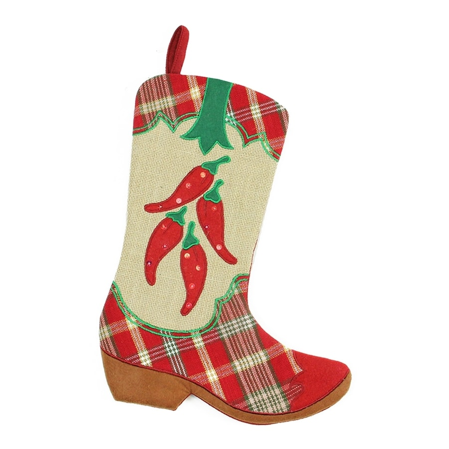 Northlight Wild West 18.5-in Red Chili Peppers Christmas Stocking