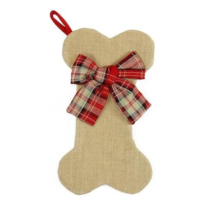Dog Bone Christmas Stocking.Northlight Dog Bone 14 In Off White Pet Christmas Stocking