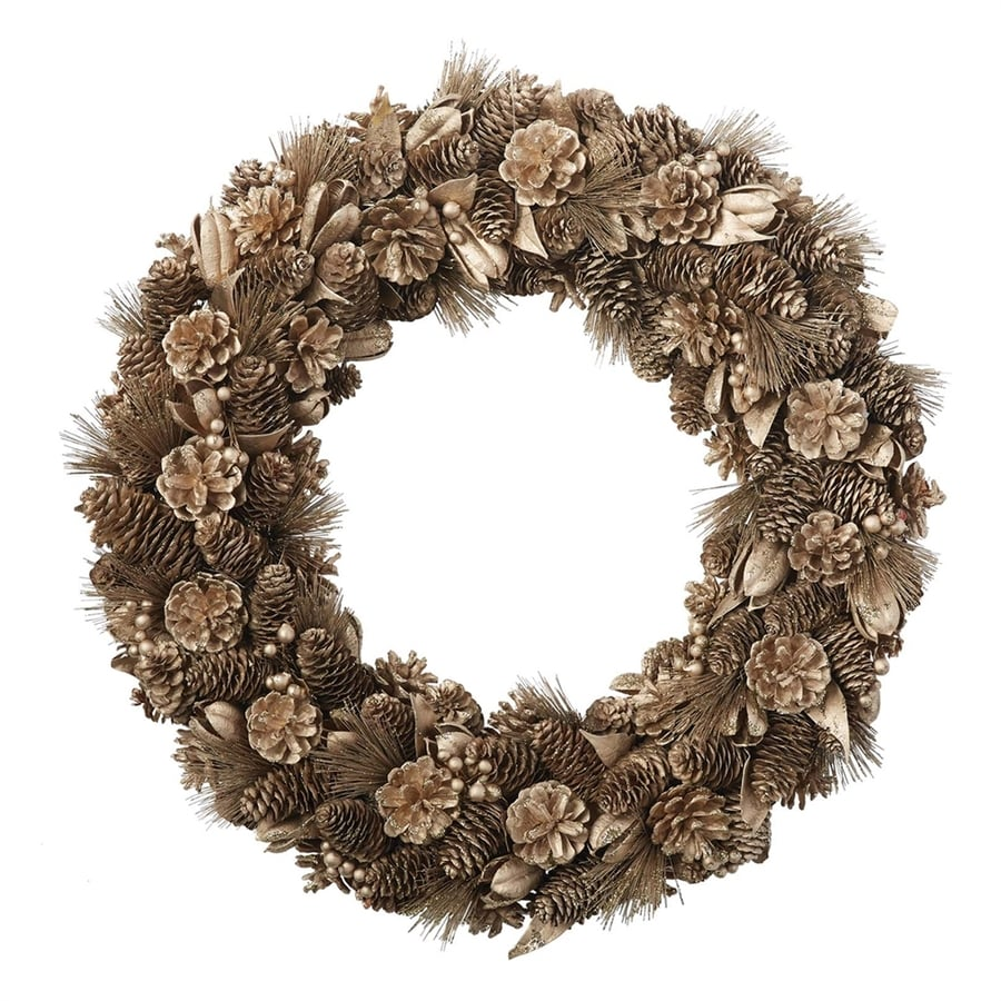 Design Imports 22-in Un-Lit Pinecones Artificial Christmas Wreath