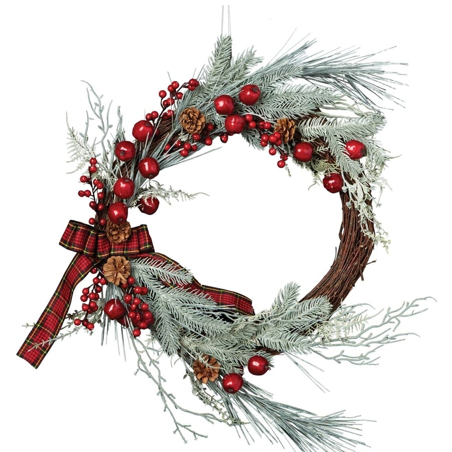 Design Imports 22-in Indoor Artificial Christmas Wreath, $43.45, Lowes