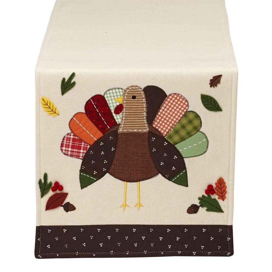 Design Imports Polyester Turkey Table Runner Indoor Thanksgiving Decoration