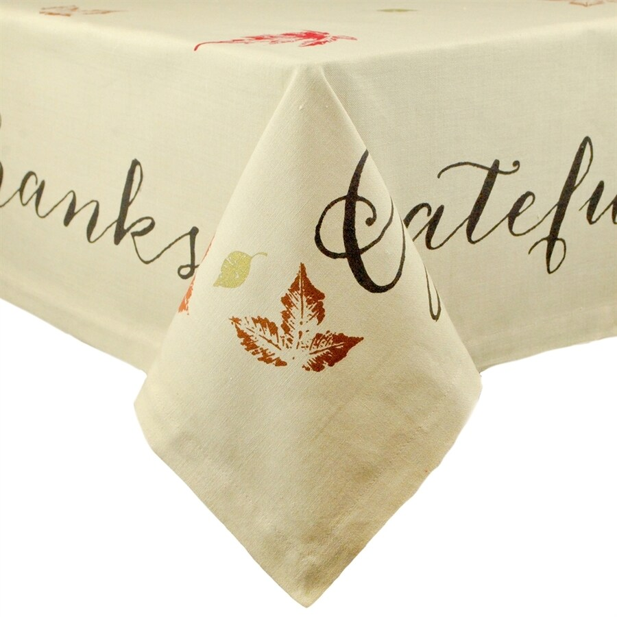 Design Imports Leaves Tablecloth Indoor Thanksgiving Decoration