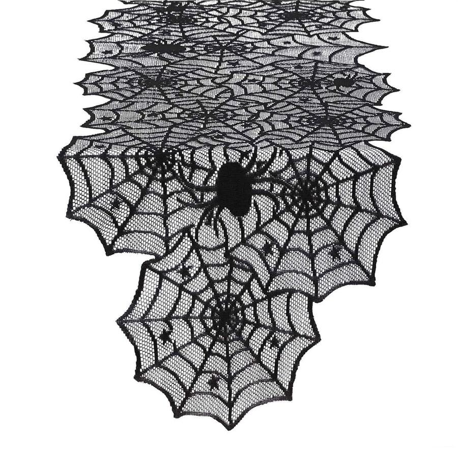 Design Imports Hocus Pocus Spider Web Lace Table Runner