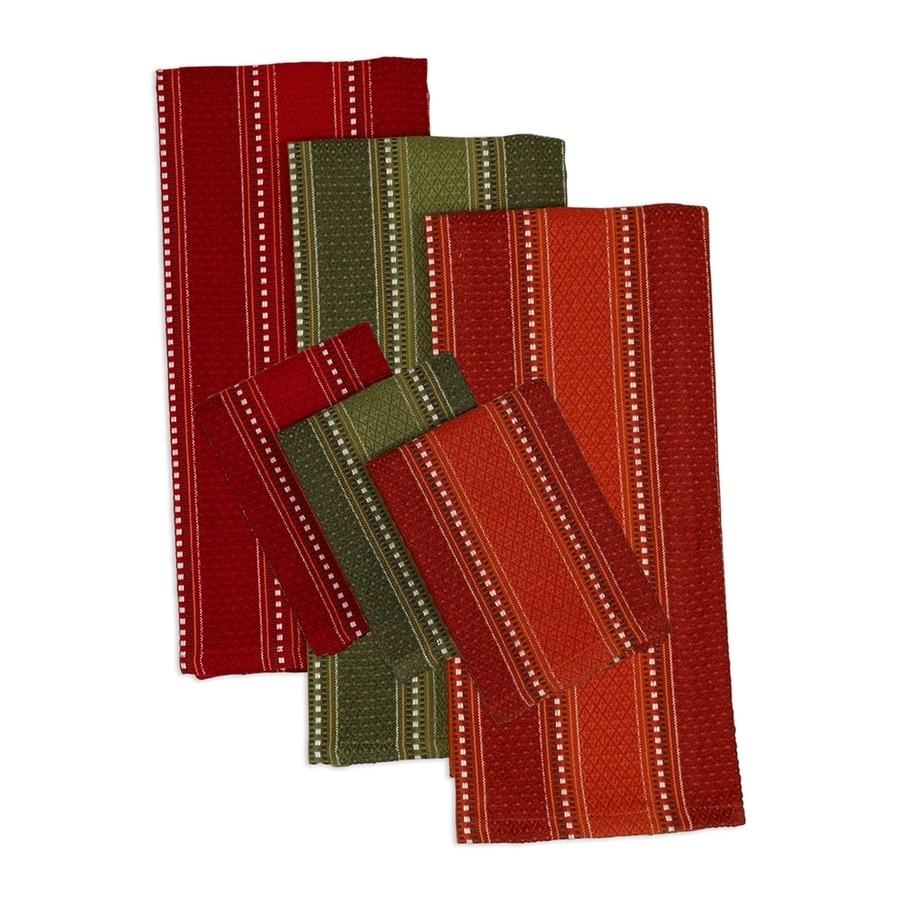 Design Imports 8-Piece Cotton Patterned Dish Towel Set