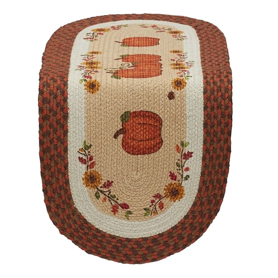 Design Imports Pumpkin Table Runner Indoor Thanksgiving Decoration