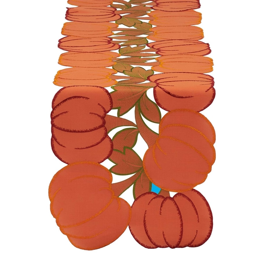 Design Imports Polyester Pumpkin Table Runner Indoor Thanksgiving Decoration