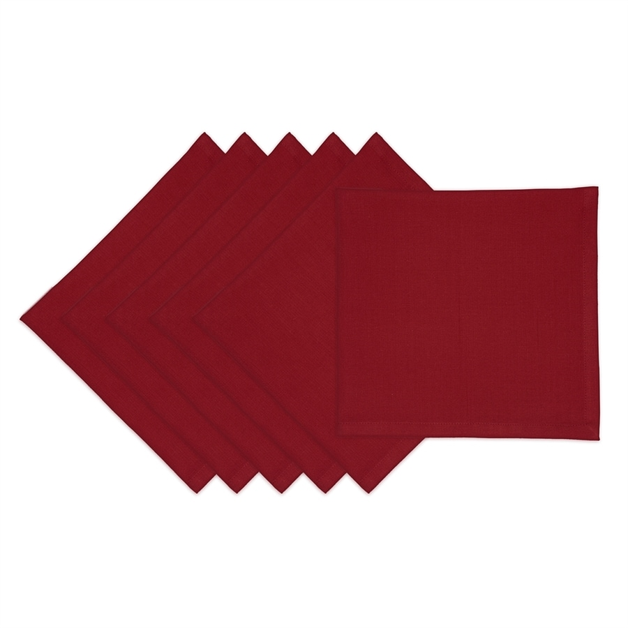 Design Imports 6-Piece Cotton Redwood Napkin Set