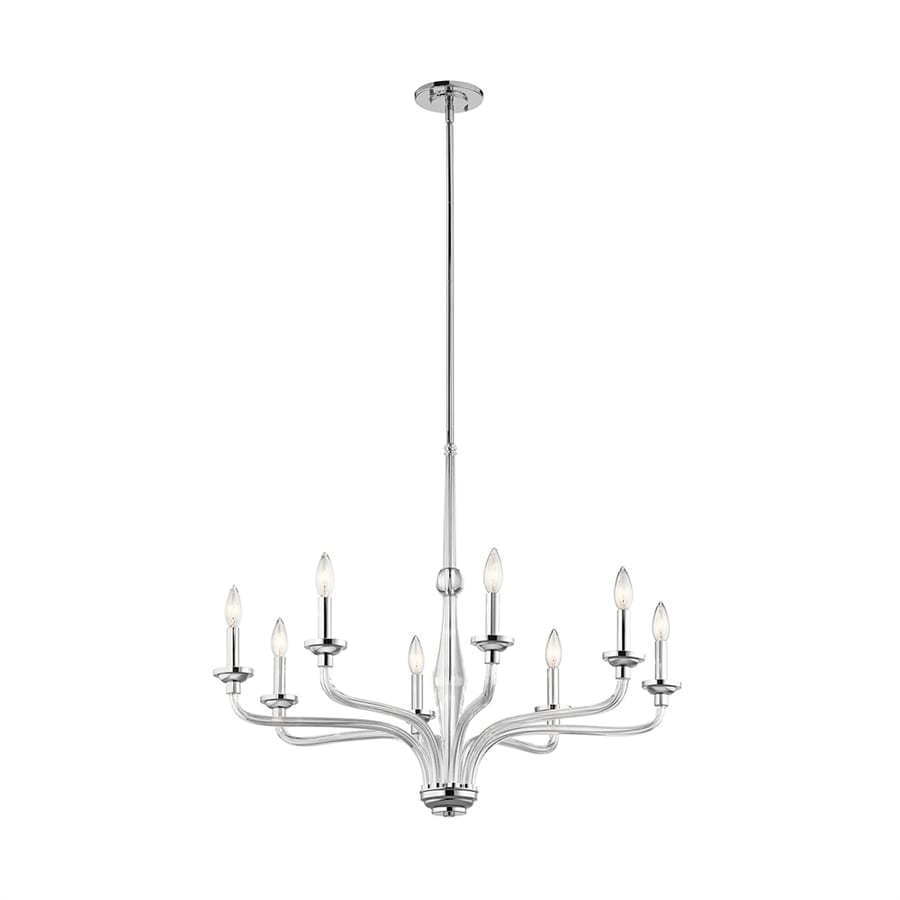 Kichler Loula 32-in 8-Light Chrome Candle Chandelier