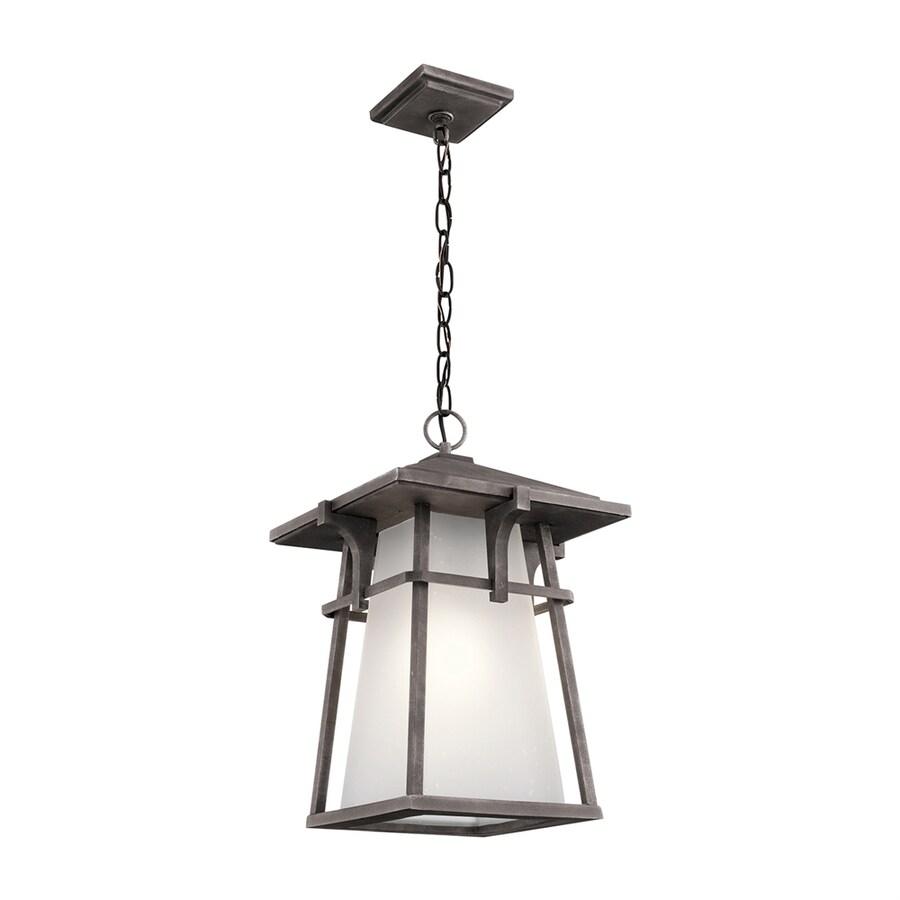 Kichler Lighting Beckett 18.25-in Weathered Zinc Outdoor Pendant Light