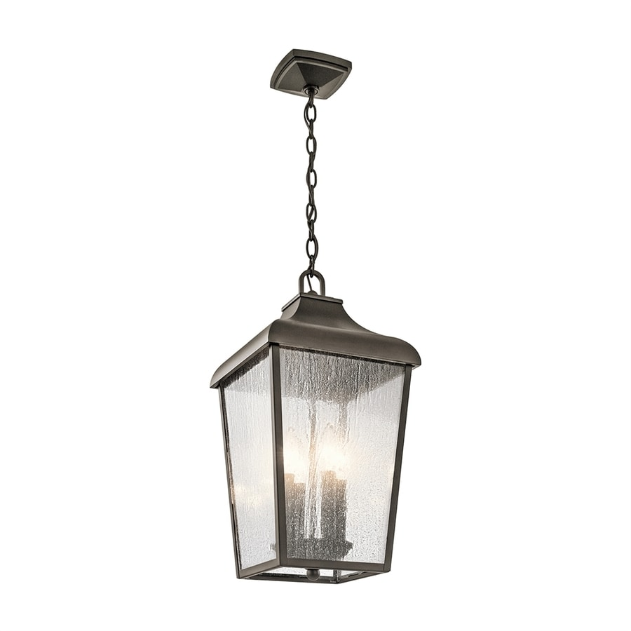 Kichler Forestdale 19.75-in Olde Bronze Outdoor Pendant Light