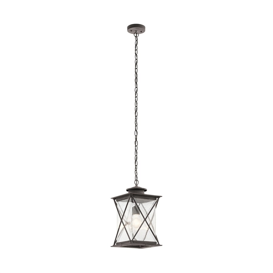 Kichler Lighting Argyle 16.75-in Weathered Zinc Outdoor Pendant Light