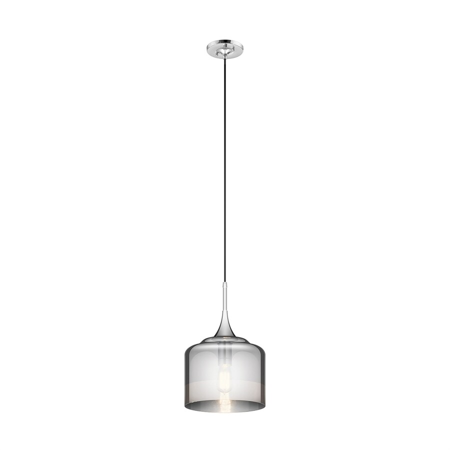 Kichler Tabot 10.5-in Chrome Single Clear Glass Dome Pendant