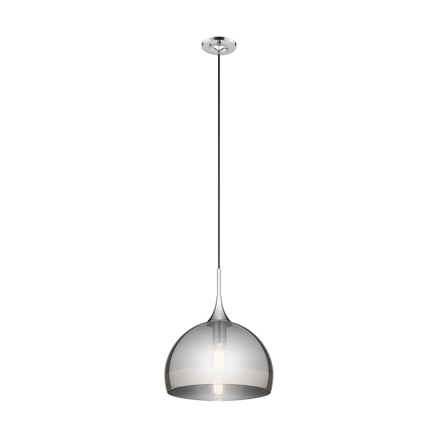 Shop kichler tabot 15 in chrome single clear glass dome pendant at kichler tabot 15 in chrome single clear glass dome pendant aloadofball