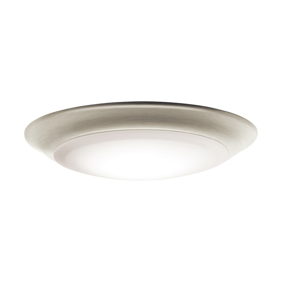 Kichler 7 5 In W Brushed Nickel Led Flush Mount Light