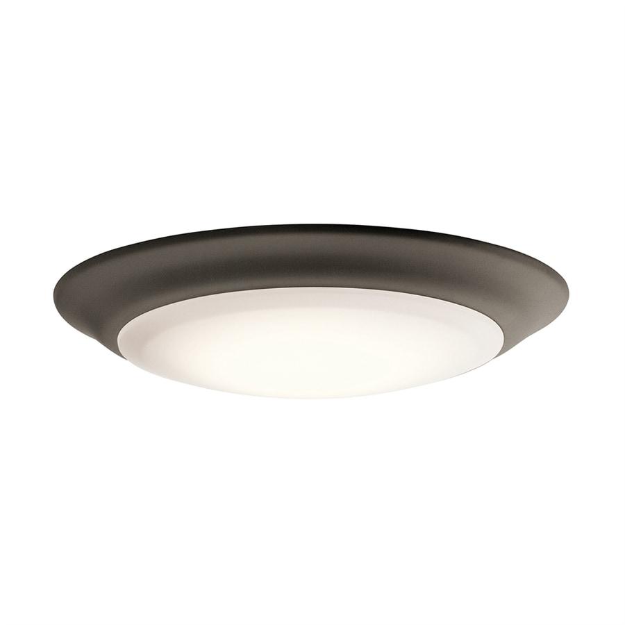 Kichler Lighting 7.5-in W Olde Bronze LED Ceiling Flush Mount Light