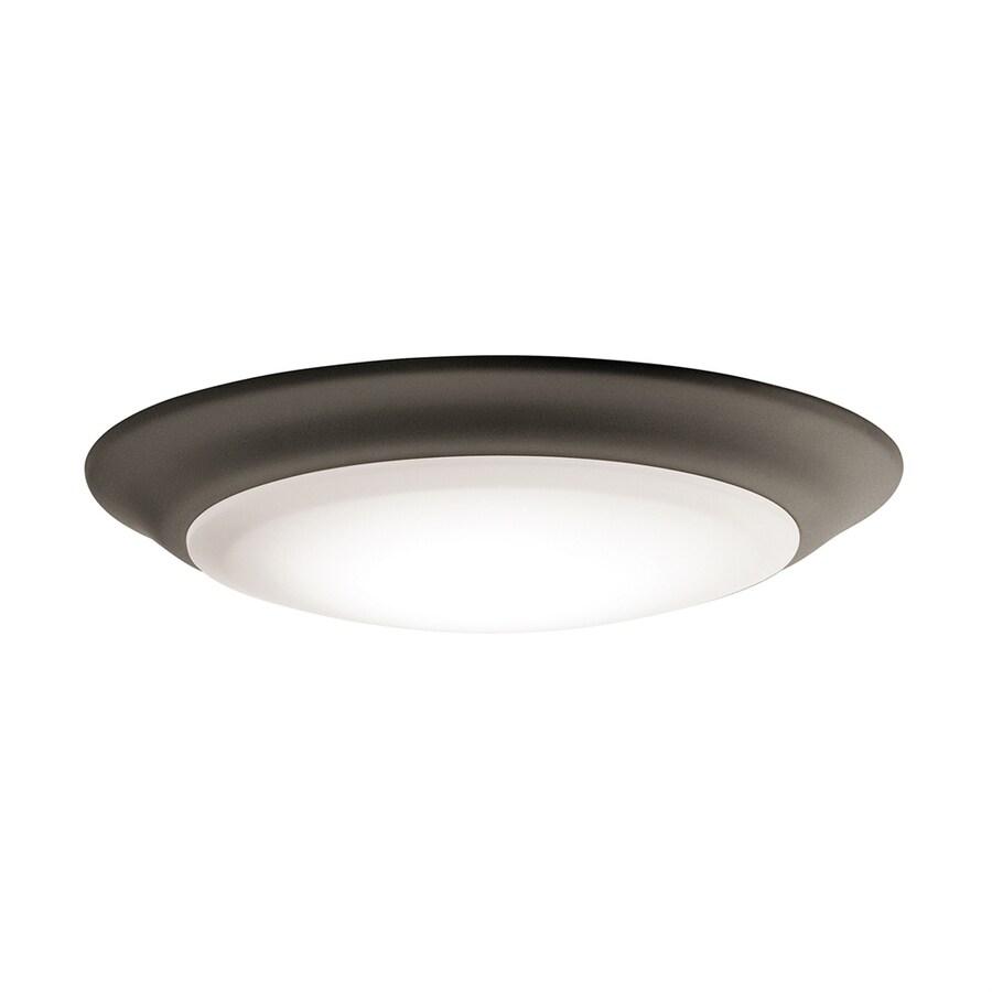 Kichler 7.5-in W Olde bronze LED Flush Mount Light ENERGY STAR