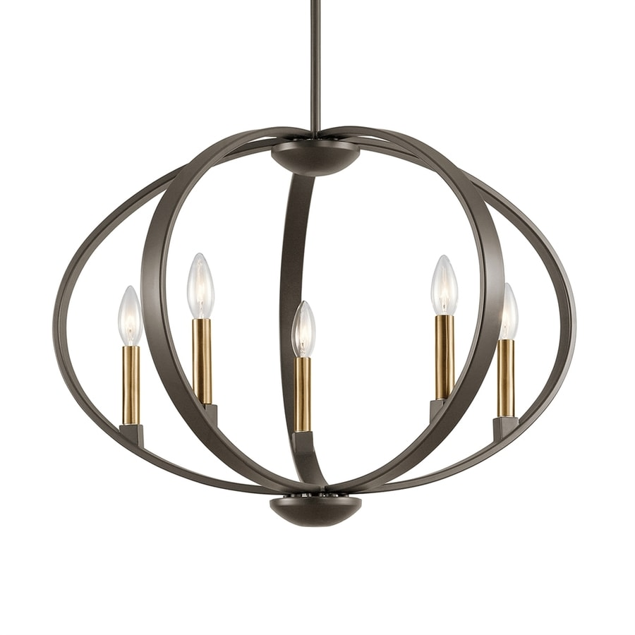 Kichler Lighting Elata 27-in Olde Bronze Single Orb Pendant