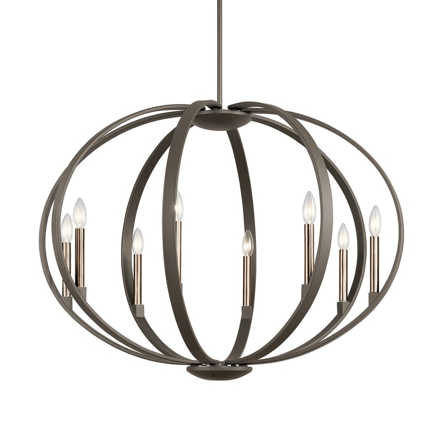 Kichler Elata 36-in Olde Bronze Single Orb Pendant