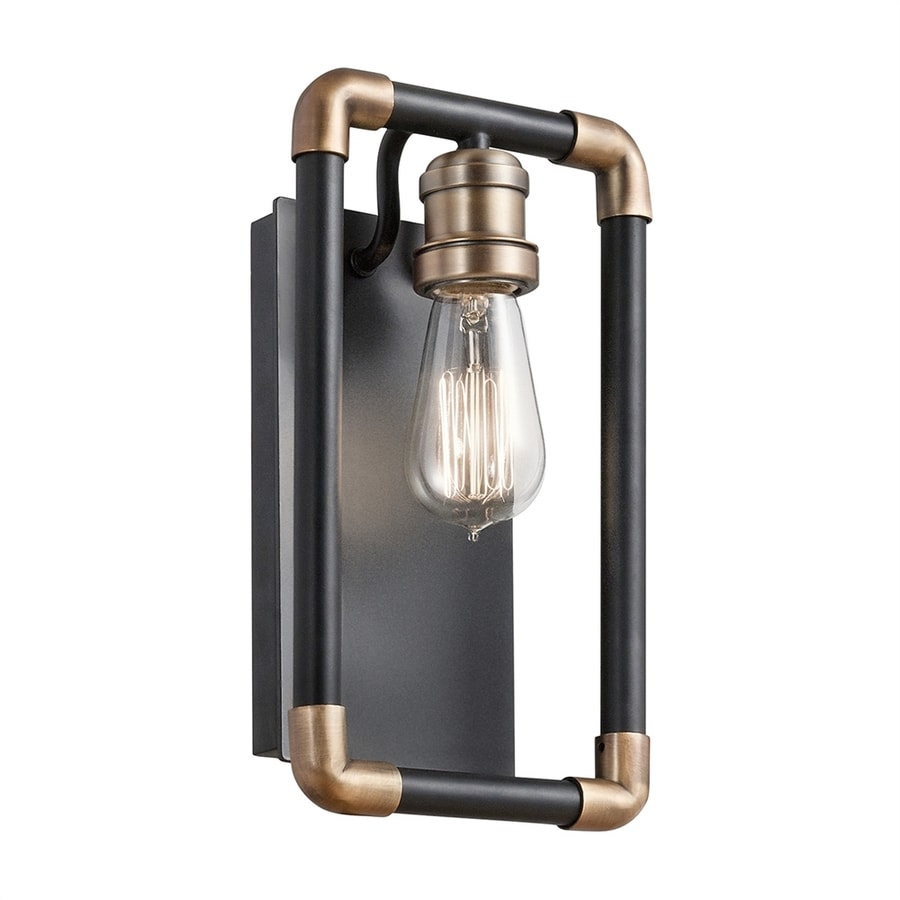 Kichler Imahn 6.75-in W 1-Light Black Vintage Wall Sconce