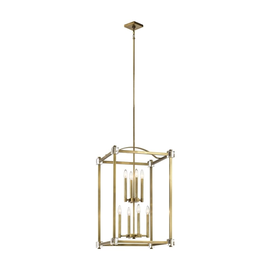 Kichler Lighting Cayden 20-in Natural Brass Vintage Single Cage Pendant