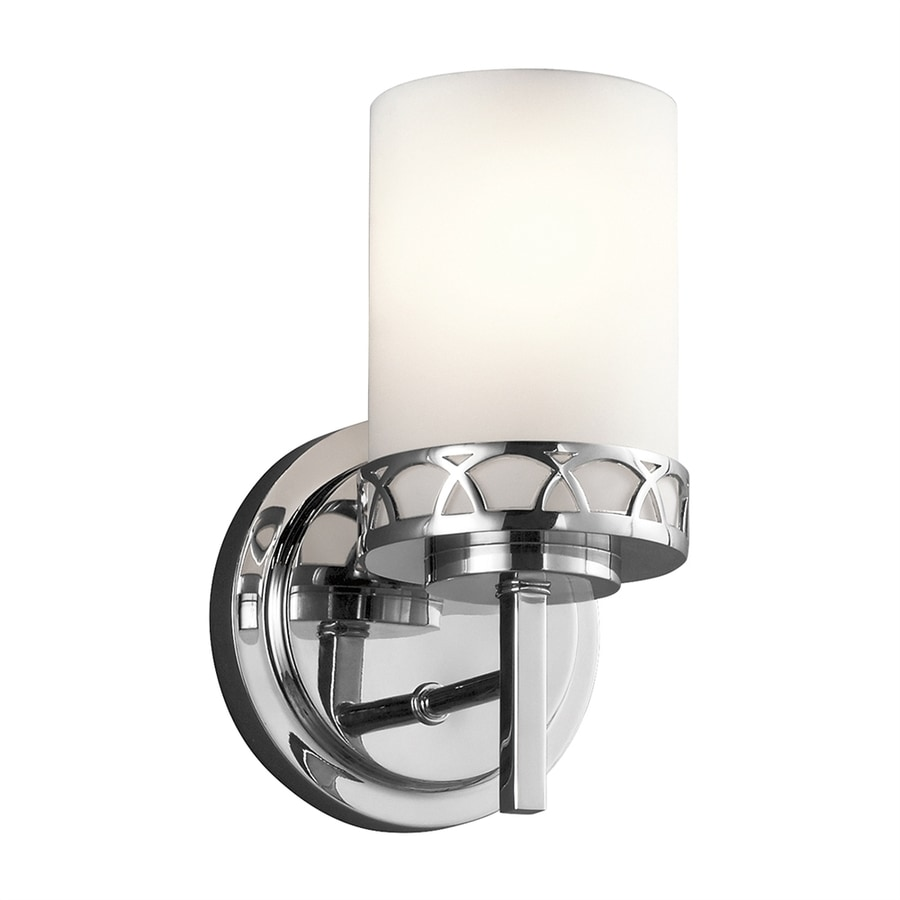 Shop Kichler Marlowe 1-Light 9.25-in Chrome Cylinder Vanity Light at Lowes.com