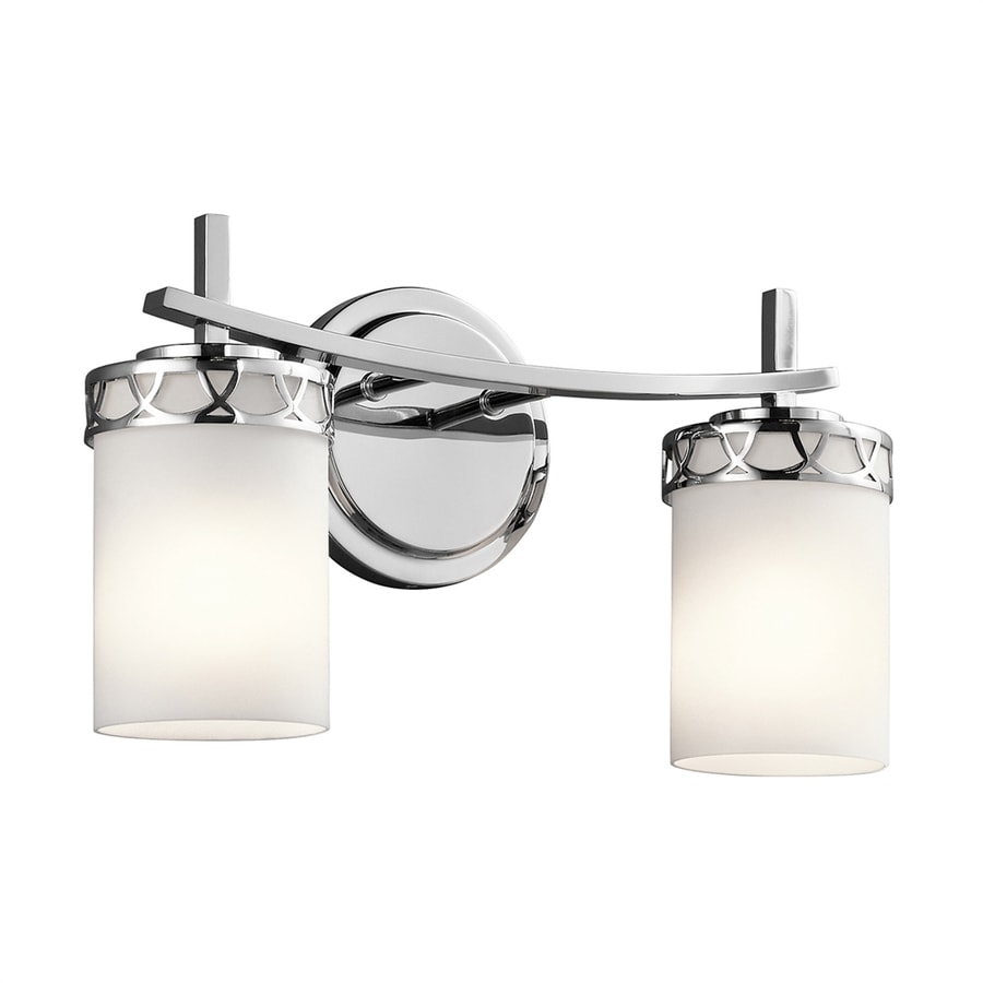 Kichler Marlowe 2-Light 8.75-in Chrome Cylinder Vanity Light