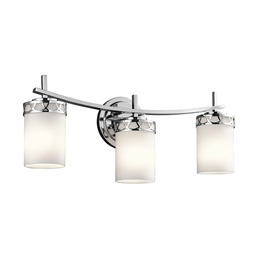 Kichler Vanity Lights Lowes : Shop Kichler Marlowe 3-Light 10-in Chrome Cylinder Vanity Light at Lowes.com