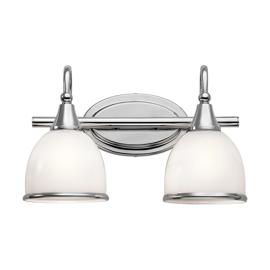Kichler Rory 2-Light 9.25-in Chrome Dome Vanity Light