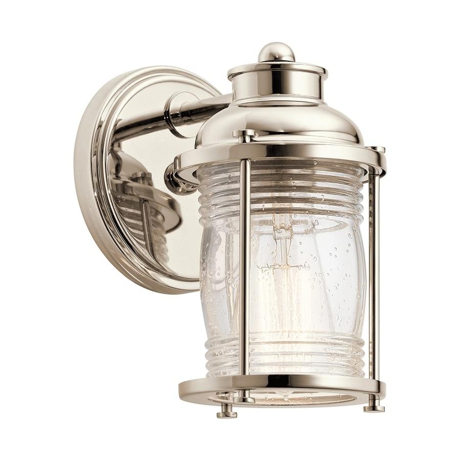 Kichler Ashland Bay 1-Light 8-in Polished nickel Jar Vanity Light