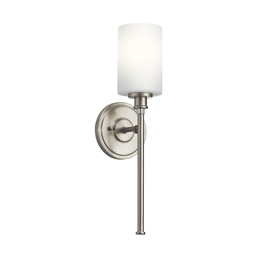 Vanity Lights In Brushed Nickel : Shop Kichler Joelson 1-Light 18.25-in Brushed Nickel Cylinder Vanity Light at Lowes.com