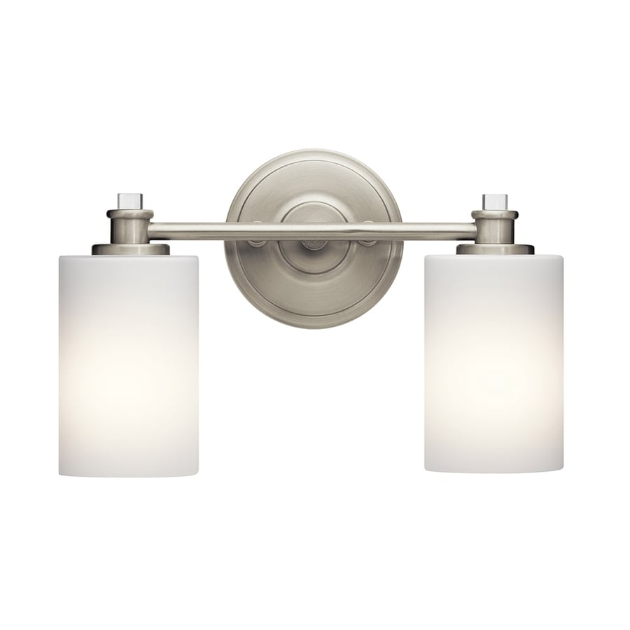 Kichler Lighting Joelson 2-Light 9.25-in Brushed Nickel Cylinder Vanity Light