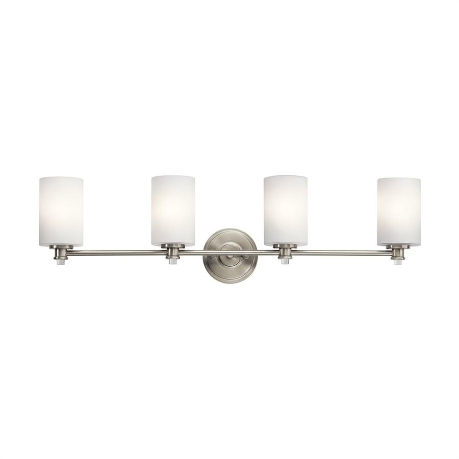 Kichler Joelson 4-Light 9.25-in Brushed nickel Cylinder Vanity Light