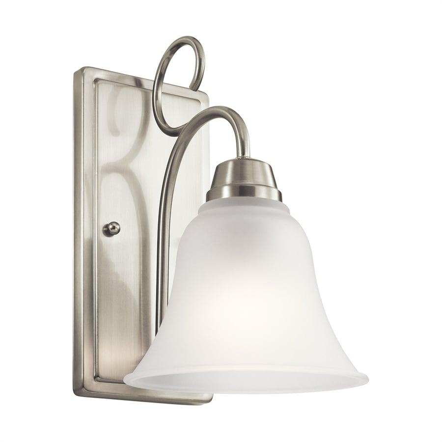 Kichler Bixler 1-Light 10.75-in Brushed nickel Bell Vanity Light